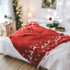 New Christmas Knitted Acrylic Blanket 130x180cm Sofa Bed Home Decor Throw Rug