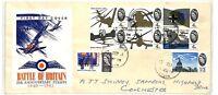 AT272 1965 GB Battle of Britain 25th Anniversary Stamps FDC FDI Essex PTS