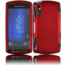 For Sony Ericsson R800i Xperia Play Red Snap-on Rubber Hard Cover Case NEW