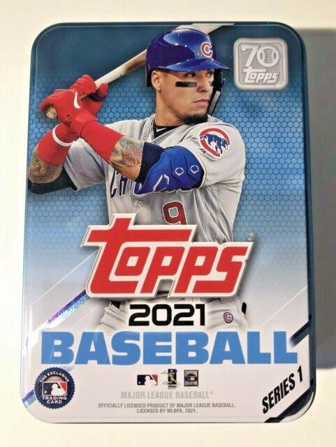 2021 Topps Series 1 Tin EMPTY Baseball Card Javier Baez Chicago Cubs