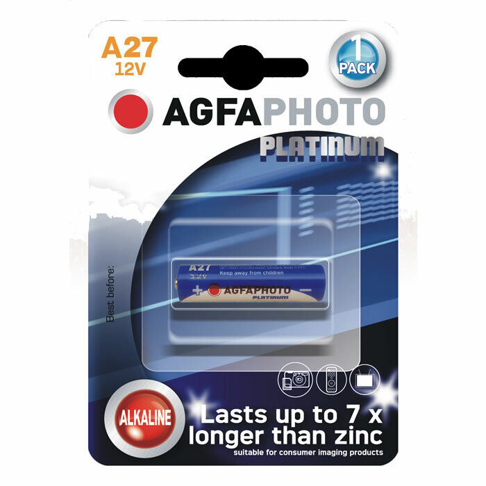 AGFA MN27 LR27 A27 27A Battery for Car Key Fobs, Garage Door Remotes EXP 2027