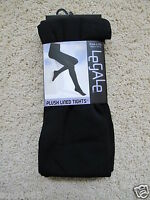 Legale_plush Lined Tights In Black (l/xl)