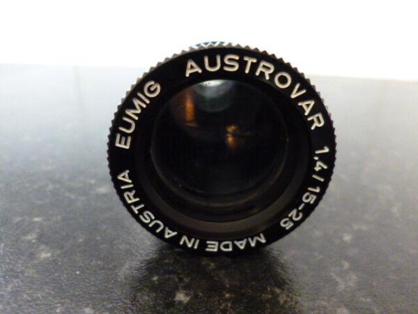 Brillant Eumig Austrovar 1.4/15-25mm Cine Projector Lens