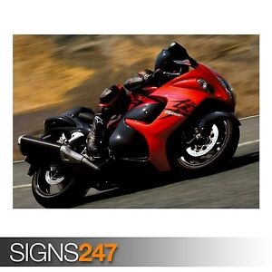 Image Is Loading 2008 SUZUKI HAYABUSA AC456 BIKE POSTER Photo Poster