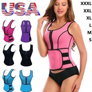 7b4be83dd8 Women Sauna Thermo Shaper Sweat Waist Trainer Belt Slimming Vest ...