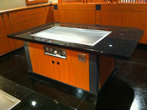 hibachi grill table teppanyaki grill tables brand new ebay. Black Bedroom Furniture Sets. Home Design Ideas