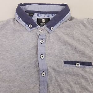Steel-amp-Jelly-Mens-Jersey-Polo-Shirt-Size-Large-Cotton-Gray