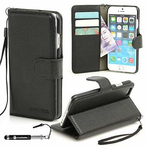 For Apple iPhone 6s 6 Case Premium Textured Leather Wallet Madcase Cover
