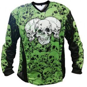 Fournisseur d'identités Jersey The Skulls vert paintball maillot-afficher le titre d`origine C19esChb-07150545-168639778