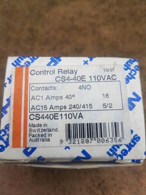 SPRECHER + SCHUH CONTROL RELAY CS4-40E 110VAC 16AMP