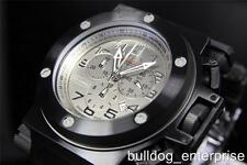 Mens Invicta Coalition Forces Jason Taylor JT Titanium Black SS Swiss Watch New