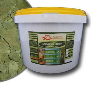 Spirulina-30-Flocken-10Liter-Eimer-1-6-kg-Algenfutter-Futter-Fischfutter-Algen