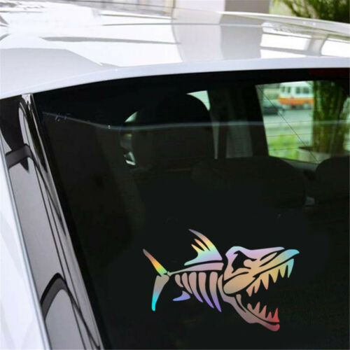 Shark Bone Sticker Car Auto Laptop Fishing Boat Truck Window Truck  Vinyl Decal