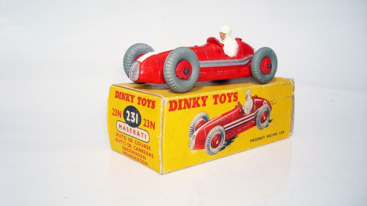 DINKY TOYS 231 (23N) Rosso MASERATI in scatola ottime condizioni