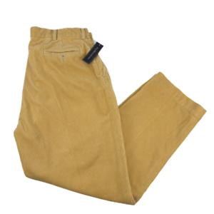 Polo Ralph Lauren Pantalones De Pana Gruesa Para Hombre Talla 38 30 Amarillo Mostaza Relajado Ebay
