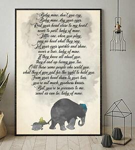 Dumbo Elephant Baby Mine Don't Cry Baby Mine Lyrics ...