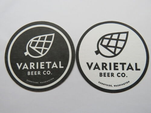 Beer Coaster ~ VARIETAL Brewing Co ~ Sunnyside Seattle WASHINGTON Breweriana