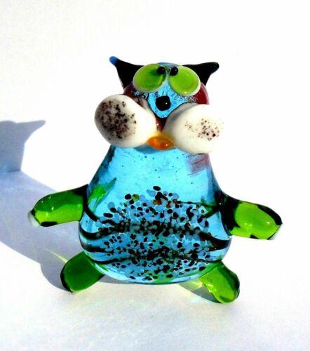 Handmade Art Glass Murano Blown Glass Lampwork Figurines Cats Medium Size