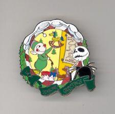 Disney Auctions Nightmare Jack Skellington Watching Christmastown Elf LE 250 Pin