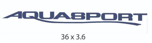 """Aquasport Boat Logo Decals 36/""""x 3.6/"""""""