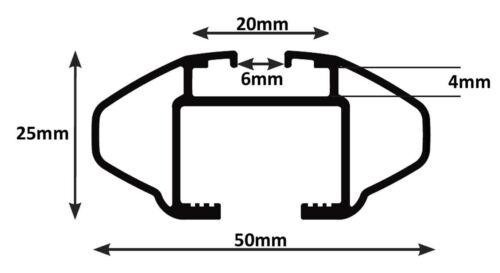 Alu Relingträger VDP CRV120 Renault Clio IV SW ab 13 90kg abschliessbar