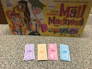 Mall-Madness-Milton-Bradley-Game-Replacement-play-money-for-game-2004