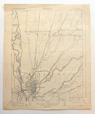 Map Of California Yuba City.Yuba City Marysville California Vintage Usgs Topo Map 1911 Linda