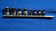 Ol Snap On 8 Piece External Torx Socket Set 38 Amp 14 Drive E16 E5 210afley