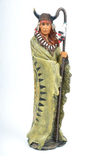 Indianer Figur Häuptling Stammesoberhaupt Deko *30,5 cm*