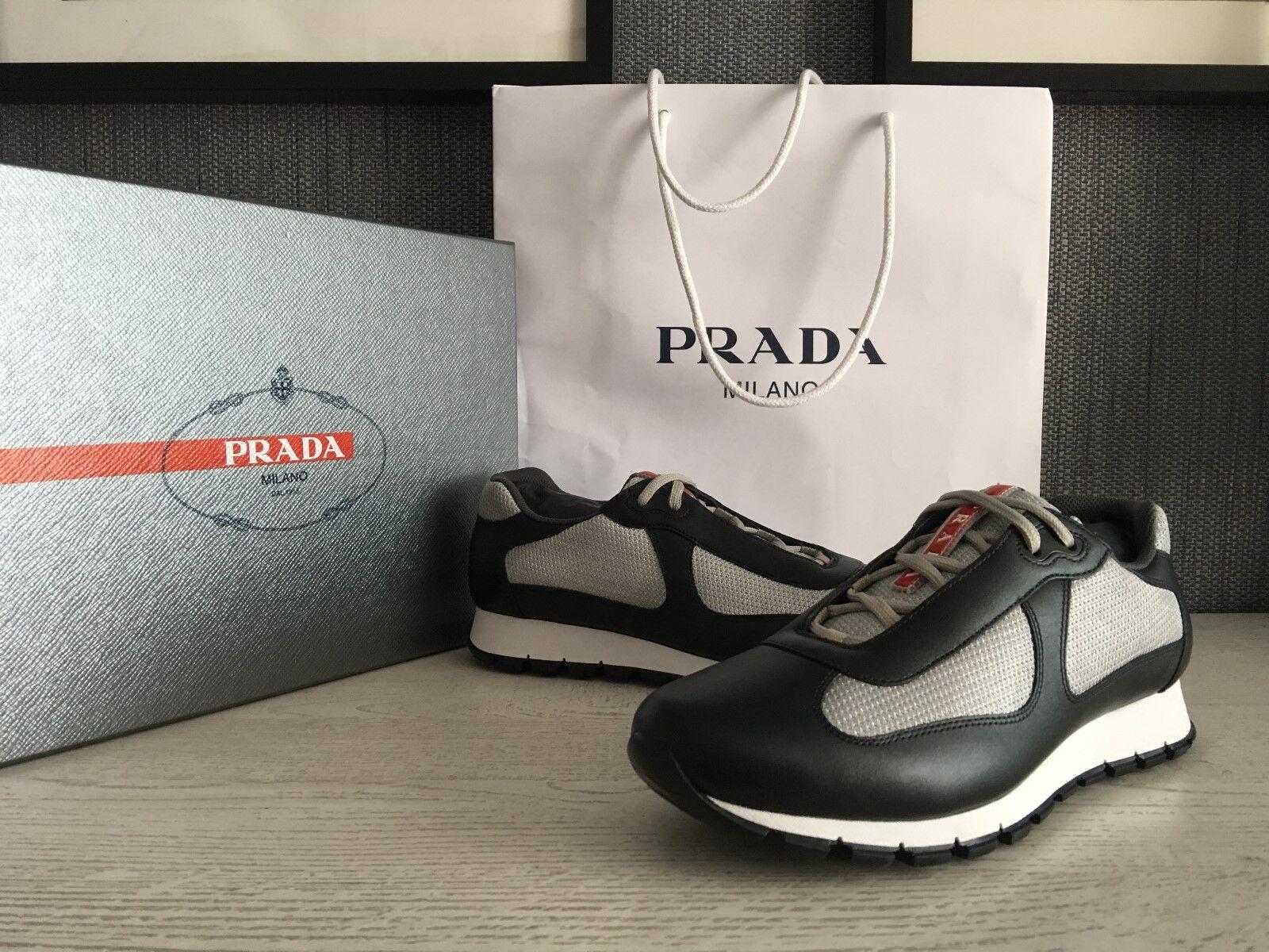 PRADA Uomo's Real Leather Shoes 41,5 Sz : US 8,5//EU 41,5 Shoes  NEW 5af1cc