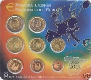 ESPANA-SPAIN-2001-BLISTER-EUROSET-8-MONEDAS-BU-SC