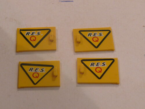 Lego 4 portes jaunes set 6462 4 yellow doors left and right from res-q