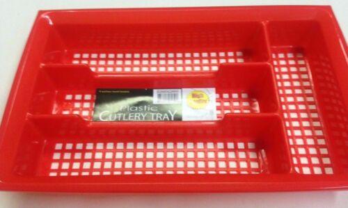 Choose from Three Colors! Plastic Cutlery Utensils Flatware Tray Organizer