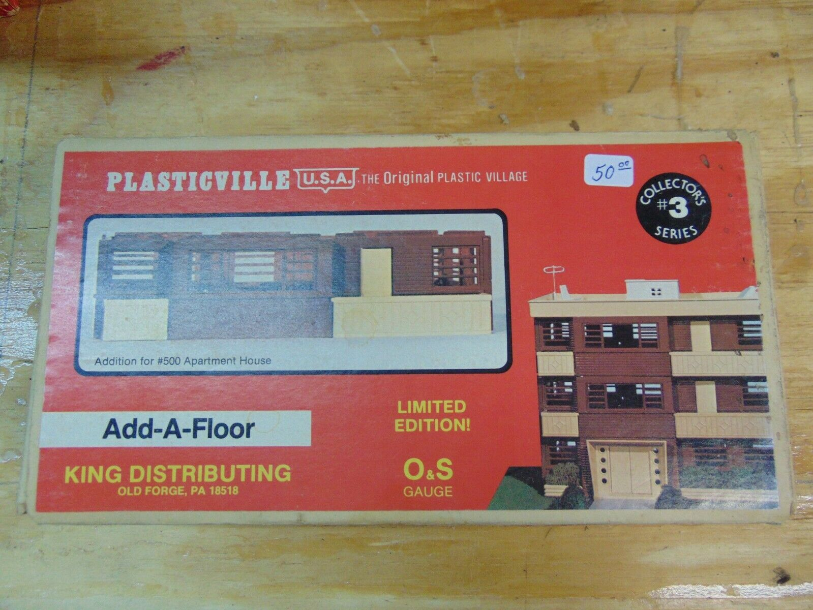 Plasticville, add a floor, brown  O  and  S  gauge, new, bag sealed (725)