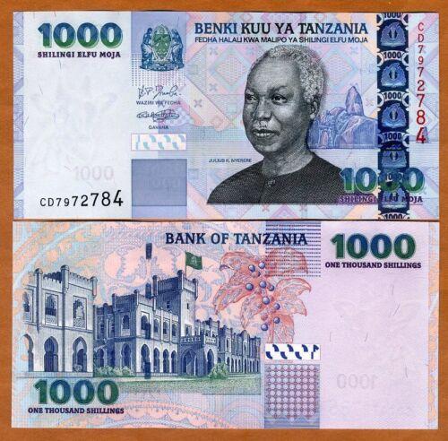 Tanzania, 1000 (1,000) shillings, ND (2003) P-36a, UNC