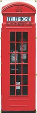 LONDON ENGLAND BRITISH UK RED PAY PHONE BOOTH MURAL ART BANNER WALL 2' x 6' PWB