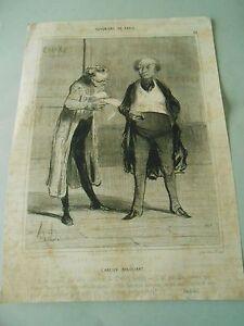 Litho-1842-Daumier-Bohemiens-de-Paris-l-039-ancien-negociant