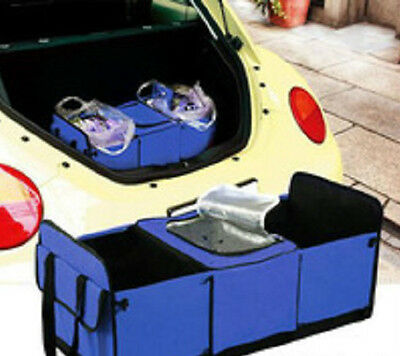 2 x Collapsible Car Boot Organiser Cooler Bag Storage Foldable Box Heavy Duty