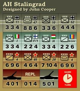 Avalon Hill's Die-Cut D-Day Replacement Counters by John Cooper