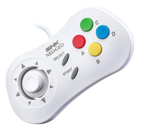 SNK NEOGEO Mini Pad Controller Bianco gioco di Importazione Del Giappone