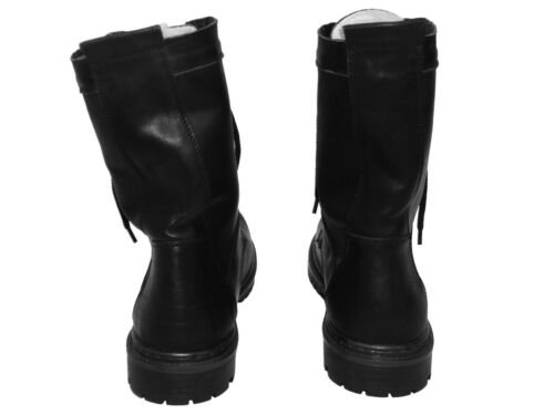 Warm Ukrainian US 10 EU 43 Military Army Winter Leather Boots with Natural Fur