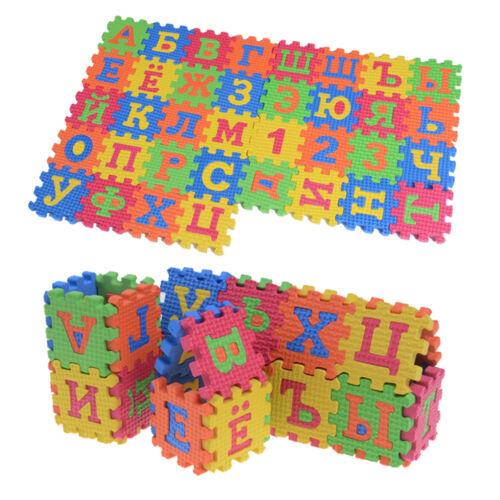 60Pcs EVA Foam Russian Alphabet Letters Numbers Floor Baby Mat Learn toy~GQ