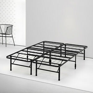 more photos 08f7c 6ebf5 Details about Steel Queen Size Bed Frame Platform 14 inch Mattress Heavy  Duty No Box Spring
