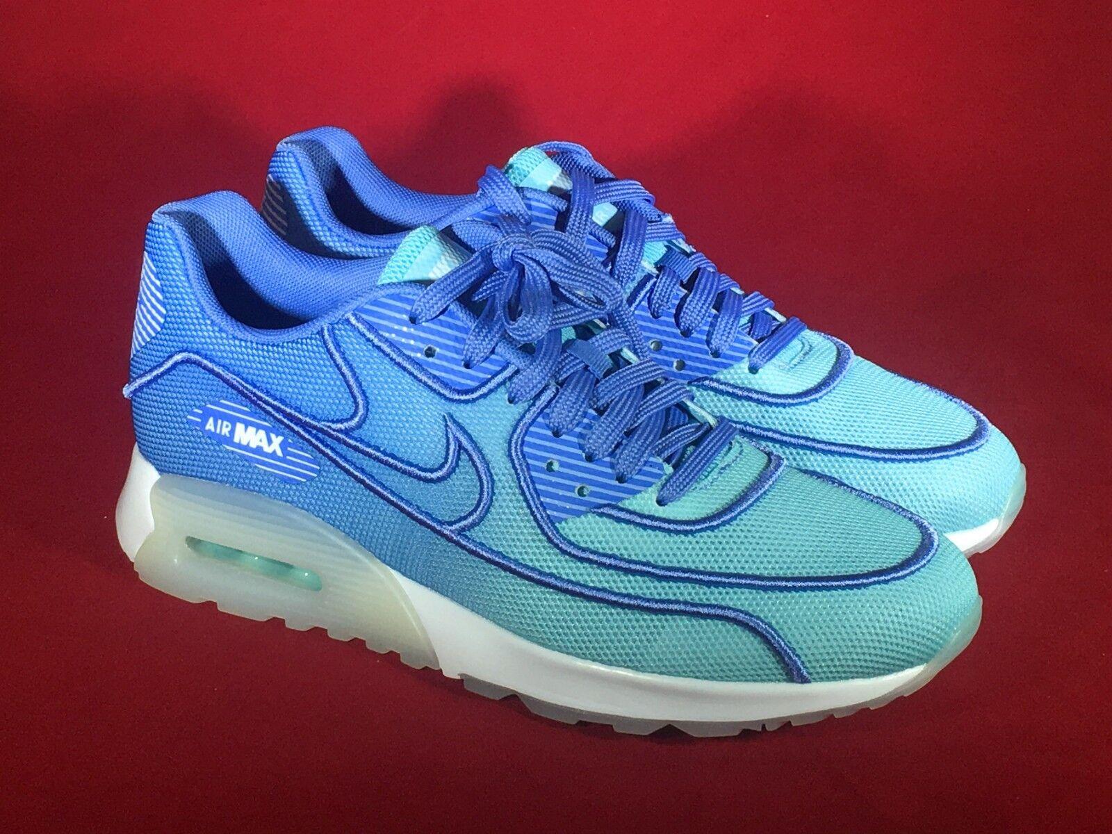 Nike Air Max 90 Ultra 2.0 Breathe Polarized 87 1 bluee 917523-400 Women's Sz 7.5
