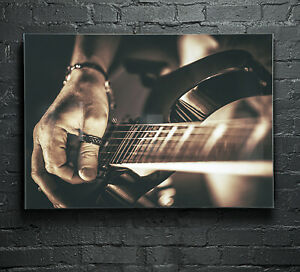 Wall-Art-Glass-Print-Photo-Picture-ANY-SIZE-Music-Electric-Guitar-35426532