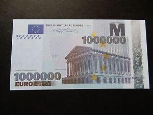 EPIC E1 Million Banknote Europe Novelty One Millionaire European Bill Bank Note - Poole, United Kingdom - EPIC E1 Million Banknote Europe Novelty One Millionaire European Bill Bank Note - Poole, United Kingdom