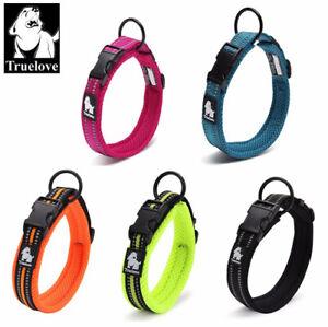 Truelove-Halsband-Hundehalsband-3M-reflektierendes-Nylon-11-Farben-8-Groessen