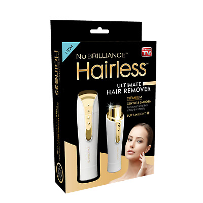 Hairless By NuBrilliance - The Ultimate Painless Hair Remover - 2 Colors, NEW!