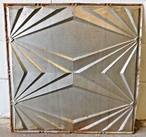"C 24/"" x 24/"" Antique Tin Ceiling Tile 1890 Framed Design Architectural Salvage"