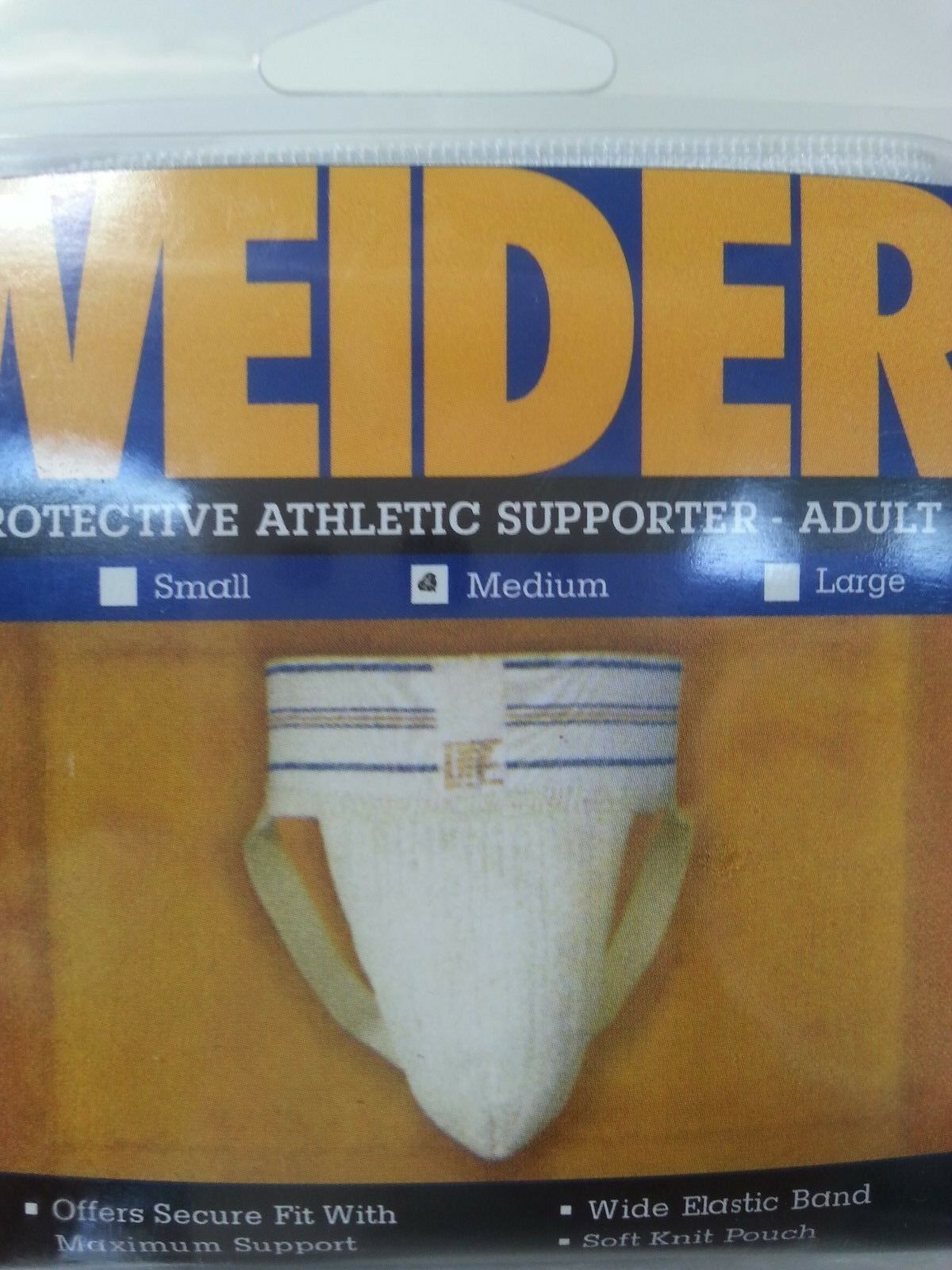 """Adult Medium 32/""""-36/"""" ASNMY Weider Athletic Supporter New"""